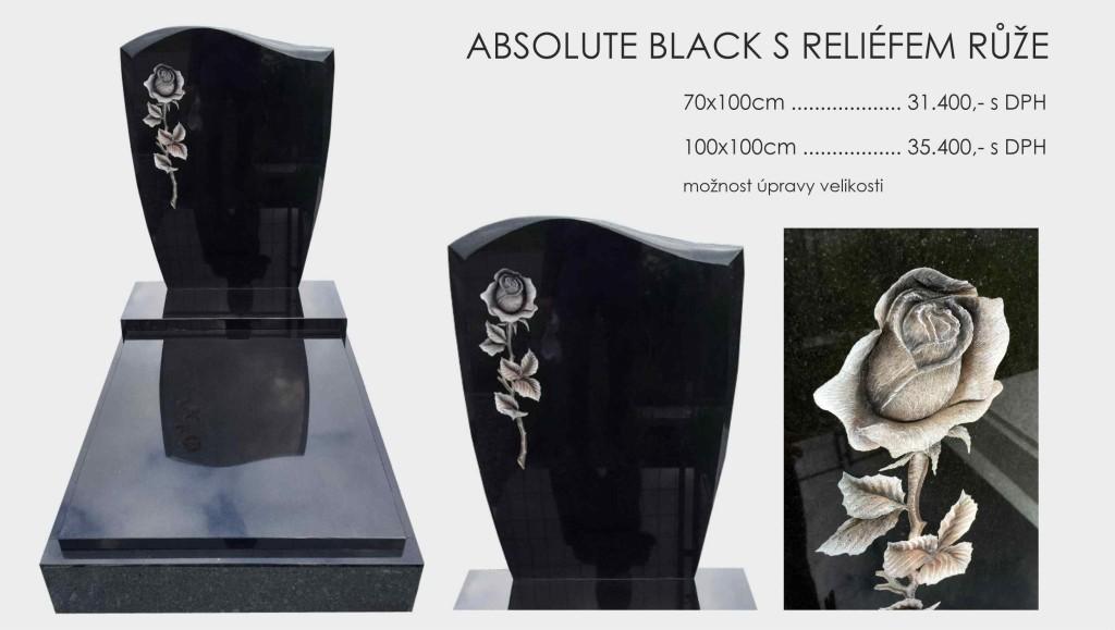 Absolute black růže s reliefem