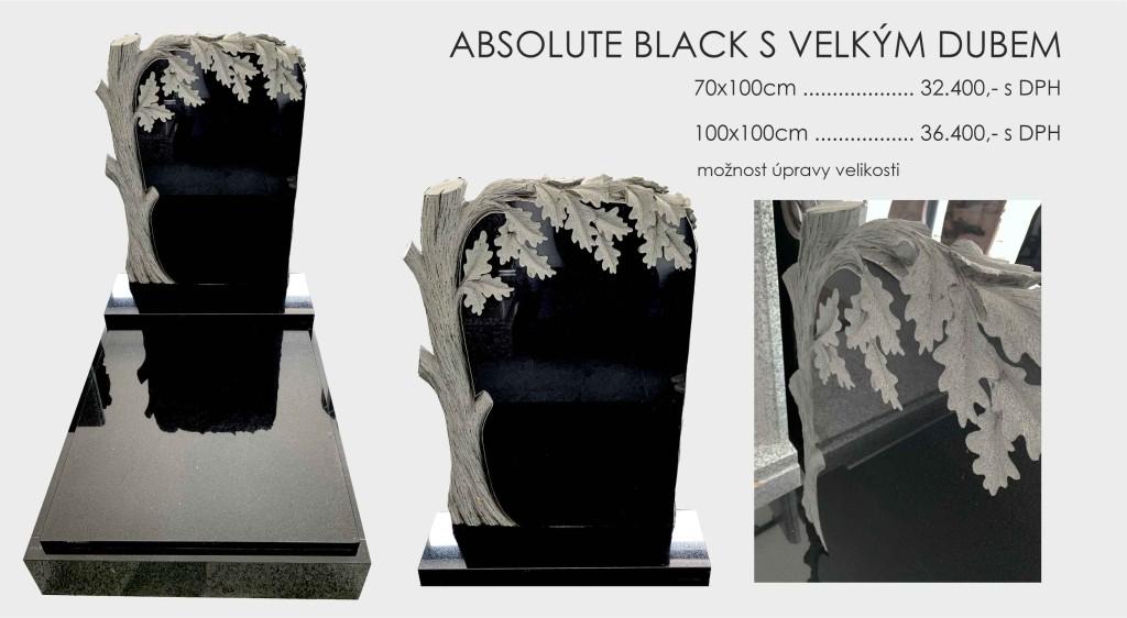Absolute black s platikou dubu