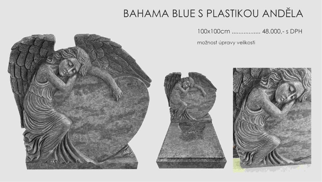 Hrob bahama blue s Andělem