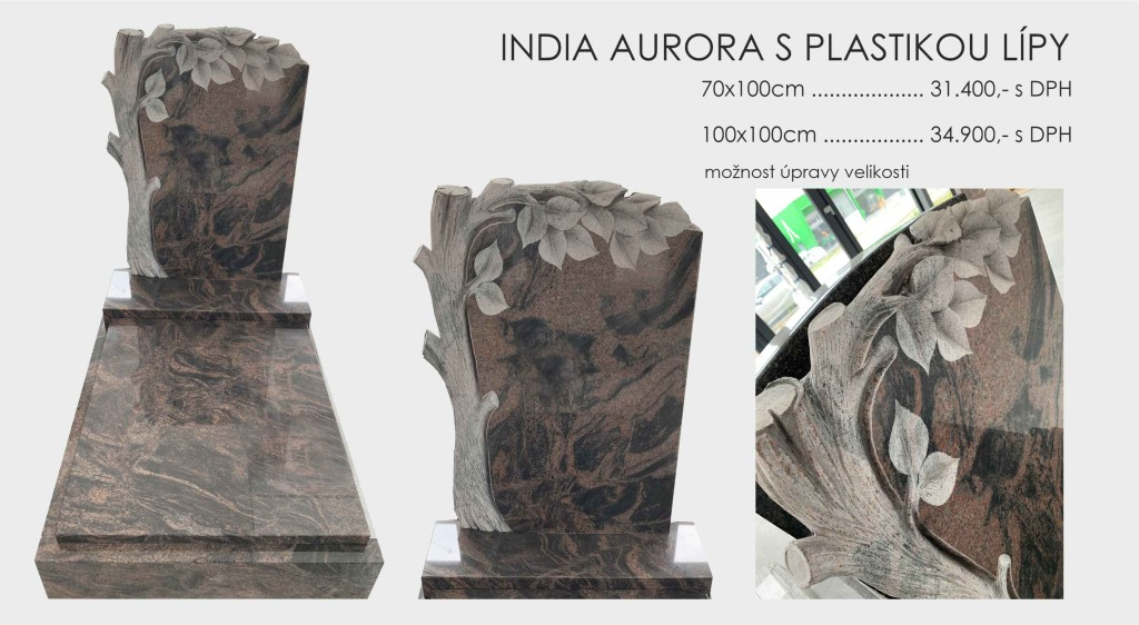 India Aurora s plastikou Lípy