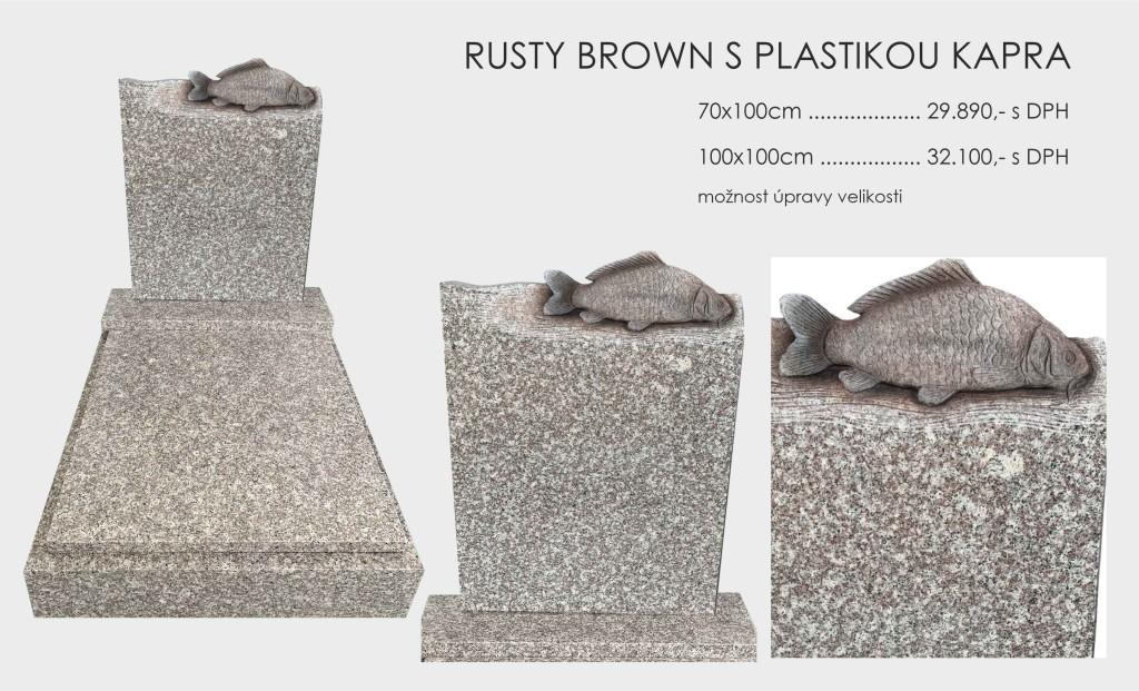 Rusty Brown s plastikou kapra