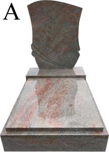 Multicolor Grey urnový hrob