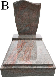 Multicolor Grey B urnový hrob