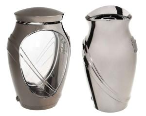 Hřbitovní lampa a Váza kameli černé zlato
