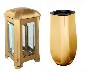 Hřbitovní lampa a Váza zlatá