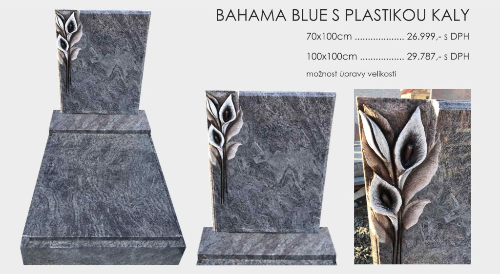 Bahama Blue s plastikou kaly