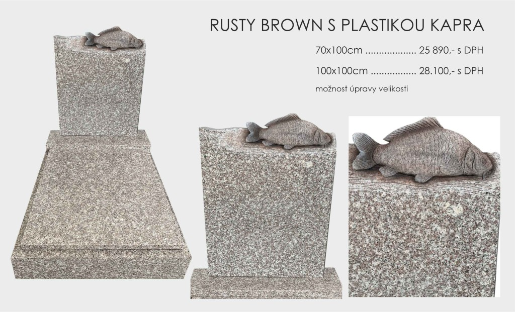 Rusty Brown s plastikou kapra